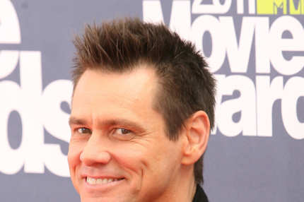 Actor Jim Carrey arrives at the MTV Movie Awards at Universal Studios, in Los Angeles, California, on June 5, 2011. AFP PHOTO/VALERIE MACON (Photo credit should read VALERIE MACON/AFP/Getty Images)
