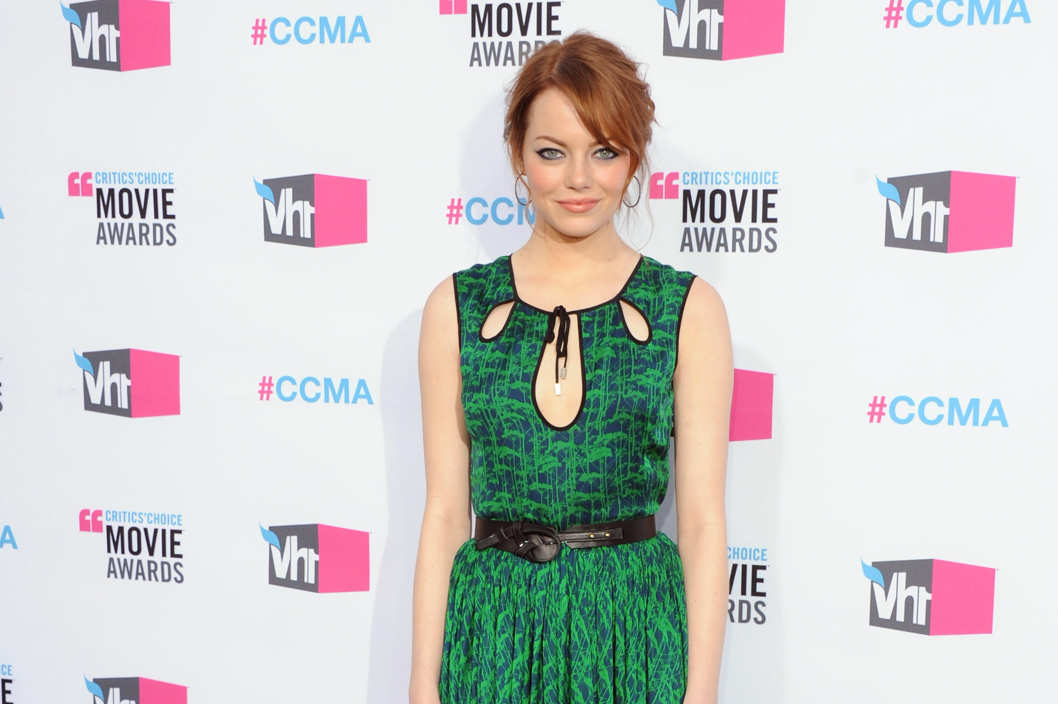 Actress Emma Stone arrives at the 17th Annual Critics Choice Movie Awards at The Hollywood Palladium on January 12, 2012 in Los Angeles, California.