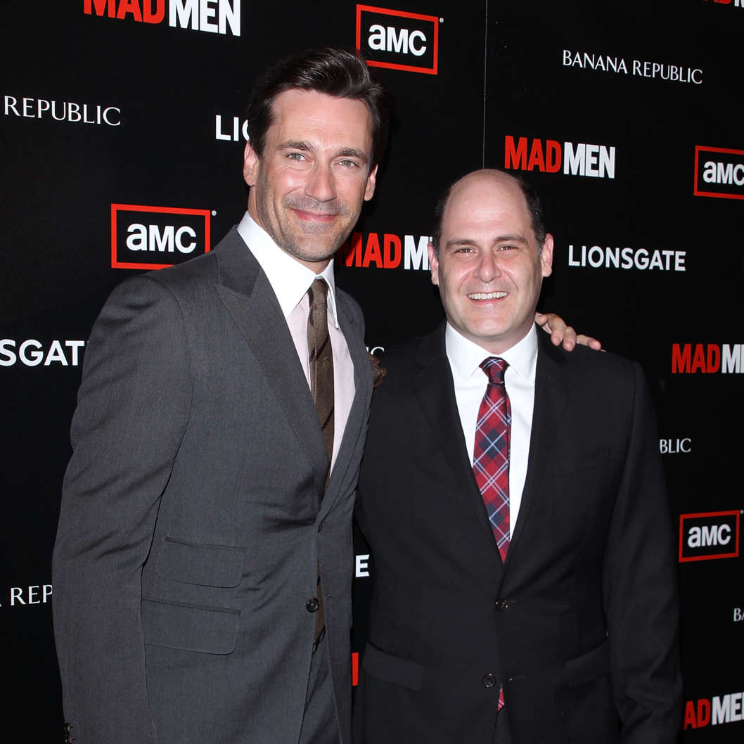Jon Hamm and Matthew Weiner.
