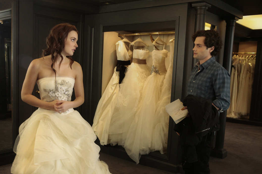 """The End Of The Affair""GOSSIP GIRLPictured (L-R)  Leighton Meester as Blair Waldorf and Penn Badgley as Dan Humphrey."