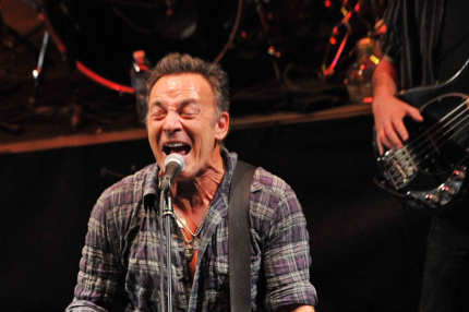 "ASBURY PARK, NJ - JANUARY 14:  Singer/songwriter Bruce Springsteen performs during the 2012 Light of Day Concert Series ""New Jersey"" at the Paramount Theatre on January 14, 2012 in Asbury Park, New Jersey.  (Photo by Mike Coppola/Getty Images)"