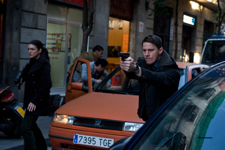 M273 (left) Gina Carano and (Right) Channing Tatum stars in Relativity Media's HAYWIRE.