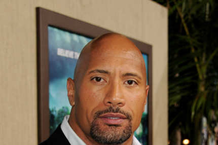 "Actor Dwayne Johnson arrives at the premiere of Warner Bros. Pictures' ""Journey 2: The Mysterious Island"""
