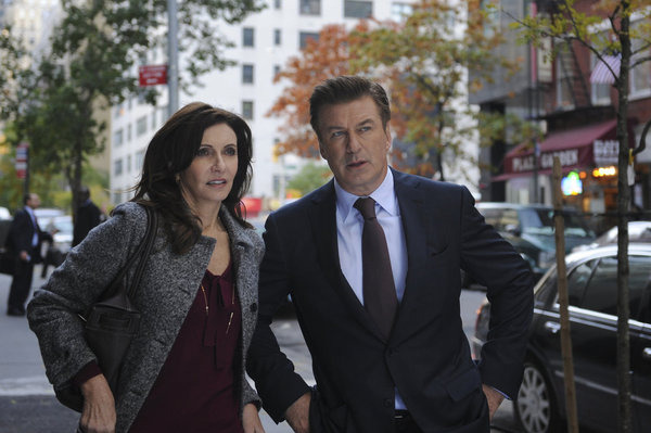 "30 ROCK -- ""Hey, Baby, What's Wrong?"" Episodes 605/606 -- Pictured: (l-r) Mary Steenburgen as Diana Jessup, Alec Baldwin as Jack Donaghy -- Photo by: Ali Goldstein/NBC"