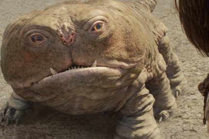 """JOHN CARTER""L to R: Woola, John Carter (Taylor Kitsch)?Disney Enterprises, Inc.  All Rights Reserved."