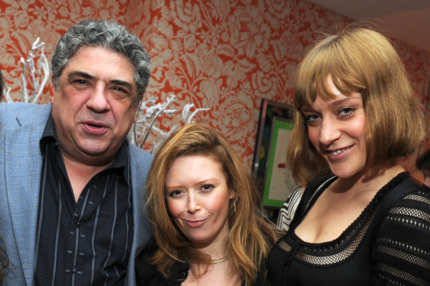 "NEW YORK - FEBRUARY 01:  (L-R) Actors Vincent Pastore, Natasha Lyonne and Chloe Sevigny attend the North American Premiere Of ""Lilyhammer"", a Netflix Original Series debuting on Netflix in the US, Canada and Latin America on February 6, 2012. The premiere was held at Crosby Street Hotel on February 1, 2012 in New York City.  (Photo by Jason Kempin/Getty Images for ID-PR)"