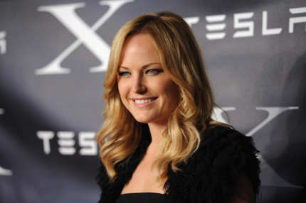LOS ANGELES, CA - FEBRUARY 09:  Actress Malin Akerman arrives at Tesla Worldwide Debut of Model X on February 9, 2012 in Los Angeles, California.  (Photo by Jason Merritt/Getty Images for Tesla)