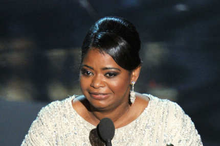 Actress Octavia Spencer accepts the Best Supporting Actress Award for 'The Help'