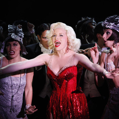 "SMASH -- ""Let's Be Bad"" Episode 105 -- Pictured: (Center) Megan Hilty as Ivy Lynn -- (Photo by: Will Hart/NBC)"