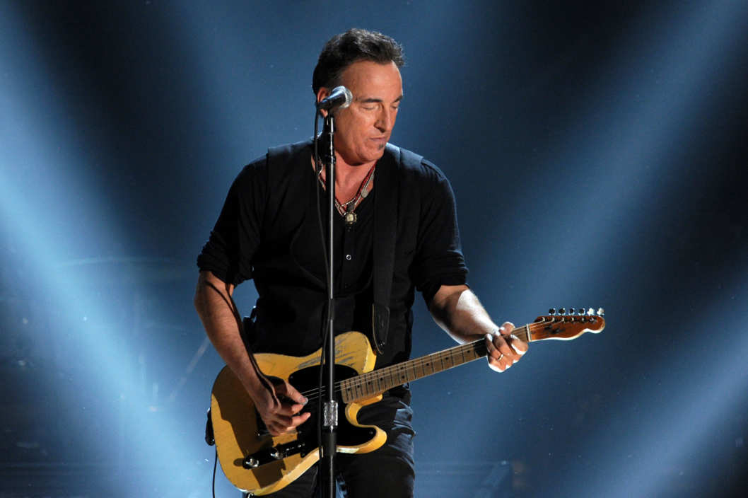 LOS ANGELES, CA - FEBRUARY 12:  Musician Bruce Springsteen performs onstage at the 54th Annual GRAMMY Awards held at Staples Center on February 12, 2012 in Los Angeles, California.  (Photo by Kevin Winter/Getty Images)