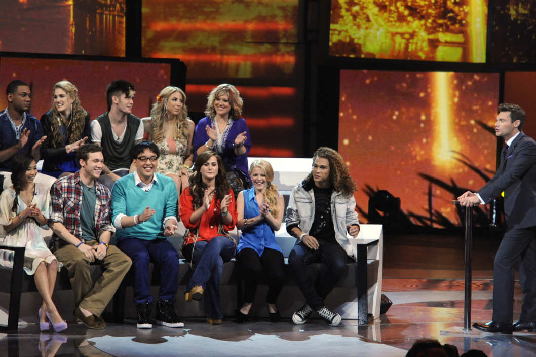 AMERICAN IDOL: The final 11 and Ryan Seacrest (R) on AMERICAN IDOL airing Thursday, March 15 (8:00-9:00 PM ET/PT) on FOX.