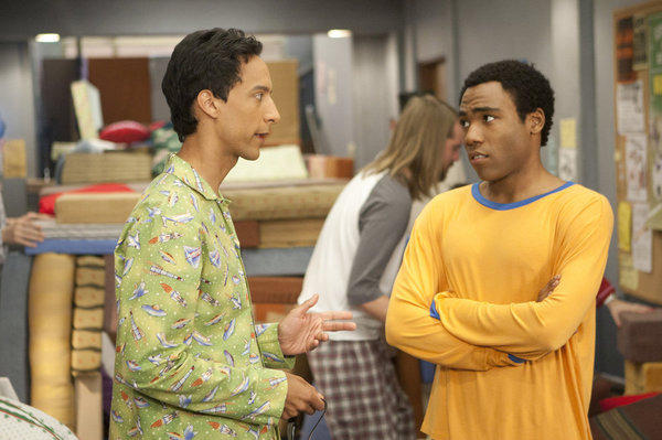 "COMMUNITY -- ""Digital Exploration of Interior Design"" Episode 313 -- Pictured: (l-r) Danny Pudi as Abed, Donald Glover as Troy -- Photo by: Michael Desmond/NBC"