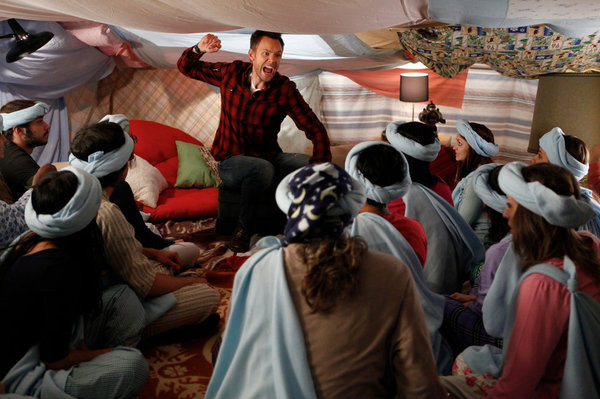 "COMMUNITY -- ""Pillows and Blankets"" Episode 314 -- Pictured: Joel McHale as Jeff."