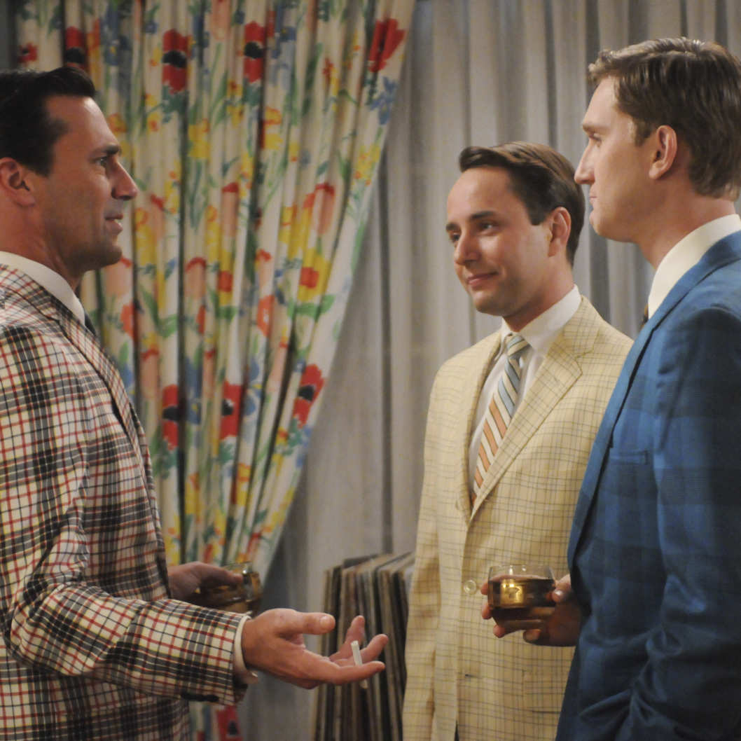 Don Draper (Jon Hamm), Pete Campbell (Vincent Kartheiser) and Ken Cosgrove (Aaron Staton) - Mad Men