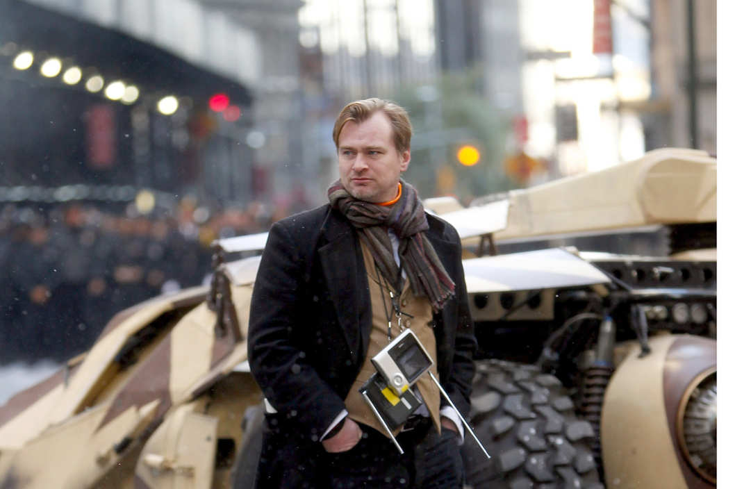 "Chris Nolan directing""Batman"" on the streets of Manhattan on November 6, 2011 in New York City."