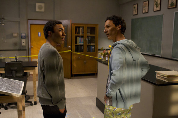 "COMMUNITY -- ""Basic Lupine Urology"" Episode 317 -- Pictured: (l-r) Donald Glover as Troy, Danny Pudi as Abed."