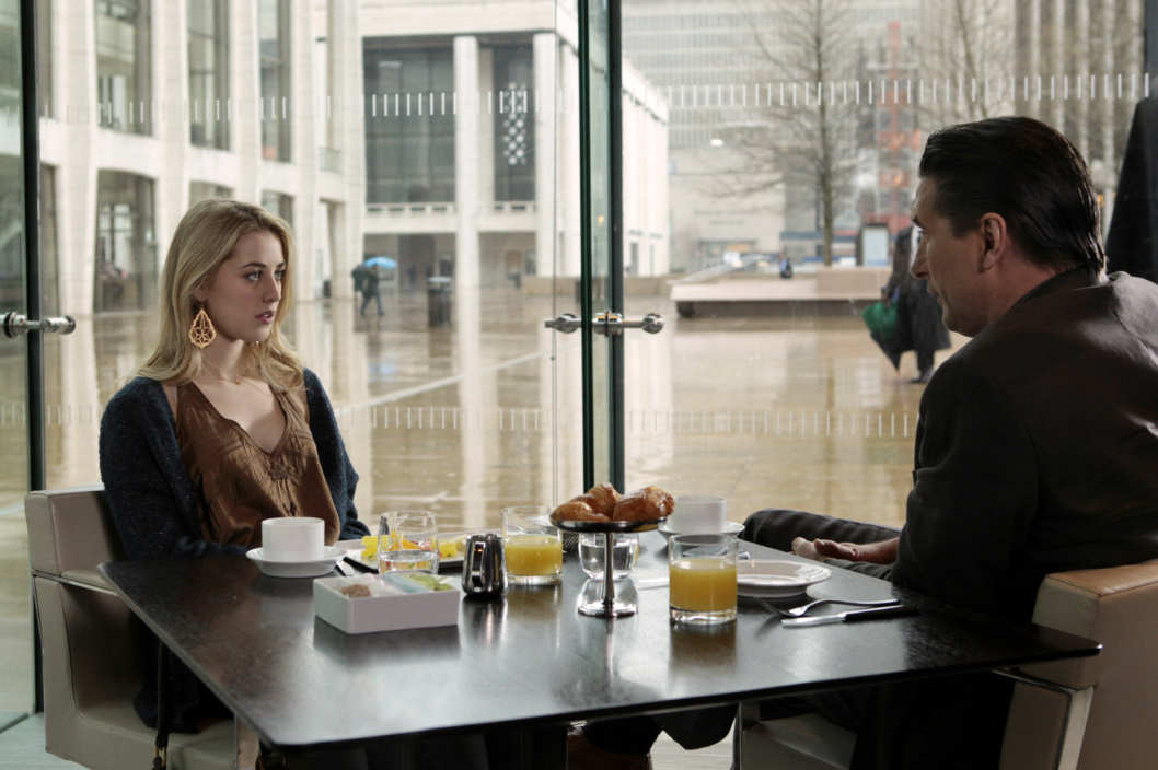 "Gossip Girl ""Despicable B"" Pictured (L-R): Billy Baldwin as Dr. William Van Der Woodsen and Ella Rae Peck as Lola"