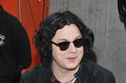 Musician Jack White signs autographs