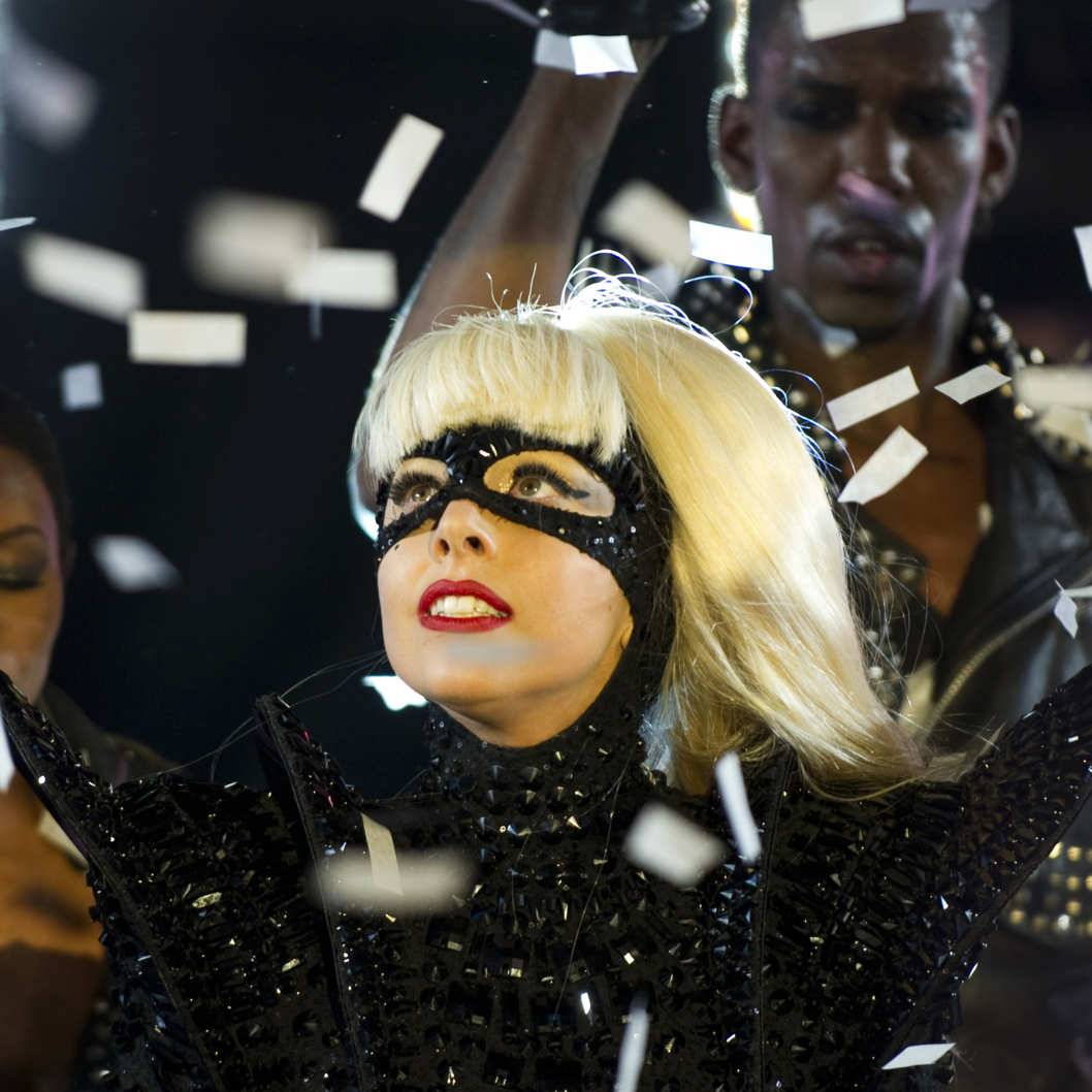 Lady Gaga performs during the New Year's Eve celebration in Times Square December 31, 2011 in New York. AFP PHOTO/DON EMMERT (Photo credit should read DON EMMERT/AFP/Getty Images)
