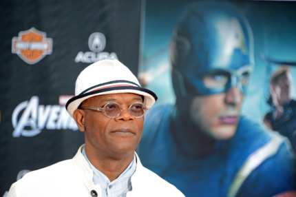 "Actor Samuel L Jackson arrives for the the world premiere of ""Marvel's The Avengers"" at the El Capitan Theatre in Hollywood, California, April 11, 2012. AFP PHOTO / Robyn Beck (Photo credit should read ROBYN BECK/AFP/Getty Images)"