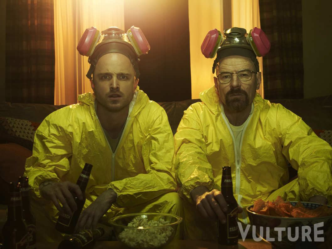 Jesse Pinkman (Aaron Paul) and Walter White (Bryan Cranston) - Breaking Bad