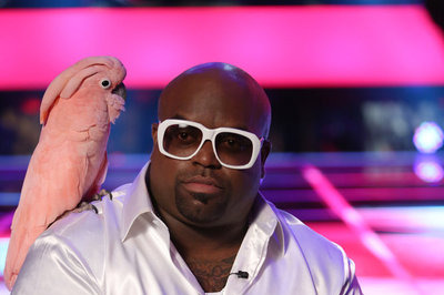 CeeLo introduced the audience to the new woman in his life,  Lady, a Moluccan cockato.