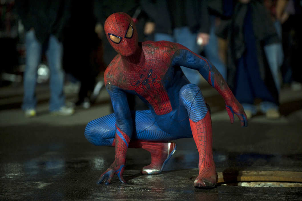"Andrew Garfield stars as Spider-Man/Peter Parker in Columbia Pictures' ""The Amazing Spider-Man,"" also starring Emma Stone."