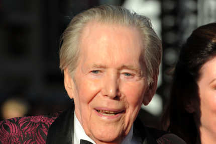 "Actor Peter O'Toole arrives at TCM Classic Film Festival Opening Night Gala and World Premiere of ""An American In Paris"" at the Grauman's Chinese Theatre"
