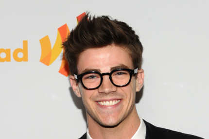 Actor Grant Gustin arrives at the 23rd Annual GLAAD Media Awards