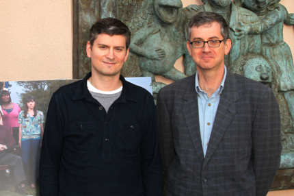 "Michael Schur (L), creator/executive producer and Greg Daniels creator/executive producer attend the Emmy Screening for NBC's ""Parks and Recreation"" at the Leonard H. Goldenson Theatre on May 23, 2011 in North Hollywood, California."