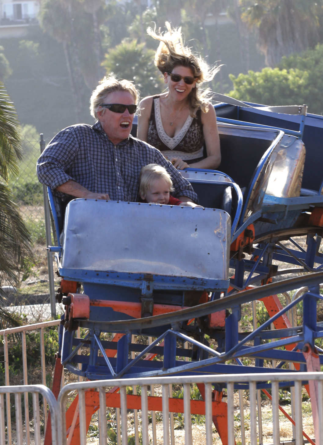 Actor Gary Busey, his girlfriend Steffanie Sampson and their son Luke Busey enjoying the day at the 31st Annual Malibu Kiwanis Chili Cook Off, Carnival and Fair in Malibu, California on September 3, 2012 Actor Gary Busey, his girlfriend Steffanie Sampson and their son Luke Busey enjoying the day at the 31st Annual Malibu Kiwanis Chili Cook Off, Carnival and Fair in Malibu, California on September 3, 2012
