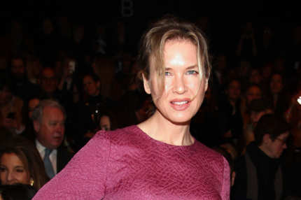Actress Renee Zellweger attends the Carolina Herrera Fall 2012 fashion show during Mercedes-Benz Fashion Week at The Theatre at Lincoln Center on February 13, 2012 in New York City.
