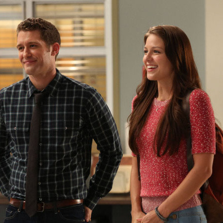 "GLEE: Will (Matthew Morrison, L) introduces a Marley (Melissa Benoist, R) as a new member of the glee club in ""The New Rachel"" the Season Four premiere episode of GLEE"