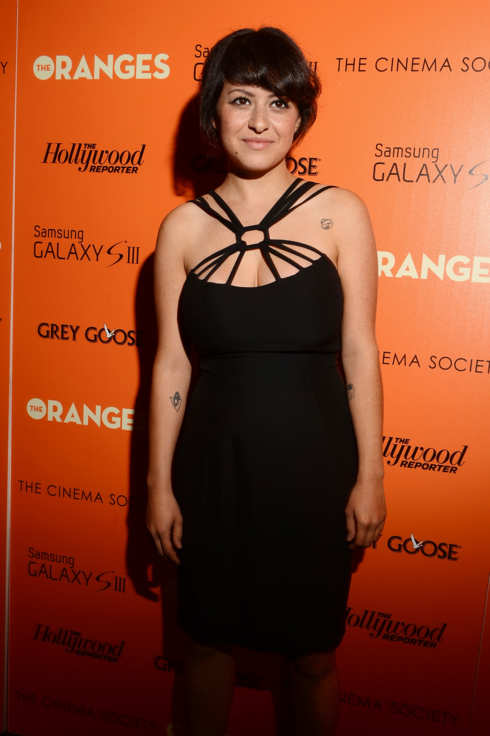 "Actress Alia Shawkat attends The Cinema Society with The Hollywood Reporter & Samsung Galaxy S III host a screening of ""The Oranges"" at Tribeca Screening Room on September 14, 2012 in New York City."