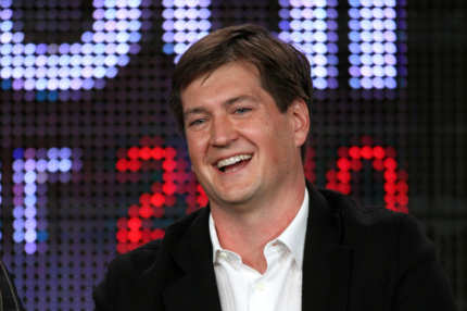 Showrunner for 'Cougar Town' and 'Scrubs' Bill Lawrence speaks onstage at the ABC comedy showrunners Q&A portion of the 2010 Winter TCA Tour day 4 at the Langham Hotel on January 12, 2010 in Pasadena, California.