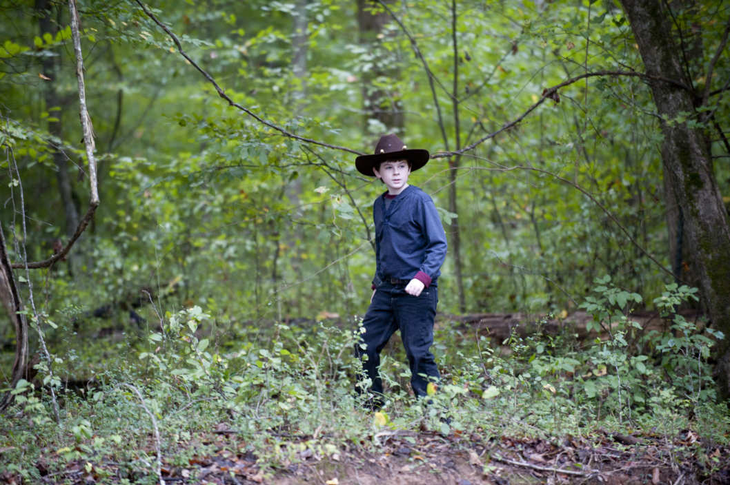 Carl Grimes (Chandler Riggs) - The Walking Dead - Season 2, Episode 11 - Photo Credit: Gene Page/AMC
