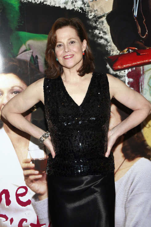 "Sigourney Weaver at Opening Night Post Curtain Call Cast Photos for ""Vanya And Sonia And Masha And Spike"""