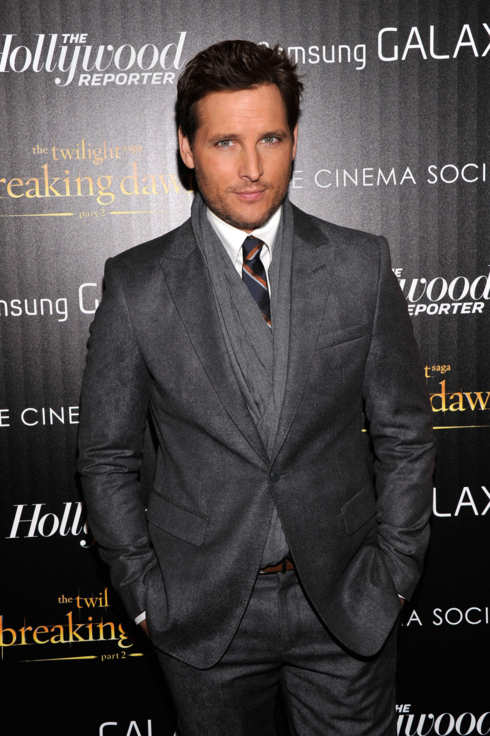 "Actor Peter Facinelli attends The Cinema Society with The Hollywood Reporter & Samsung Galaxy screening of ""The Twilight Saga: Breaking Dawn Part 2"" on November 15, 2012 in New York City."