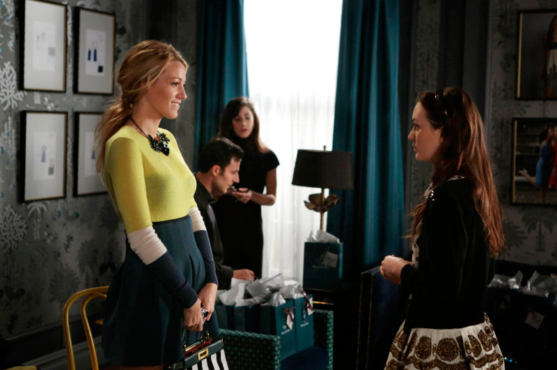 "GOSSIP GIRL-- ""Save the Last Chance""-- Pictured (L-R): Blake Lively as Serena Van Der Woodsen and Leighton Meester as Blair Waldorf"