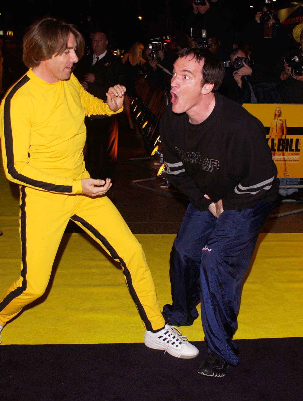 02/10/03  Jonathan Ross & Quentin Tarantino attend the premiere of Kill Bill at the Empire, Leicester Square London  Rune Hellestad/Corbis