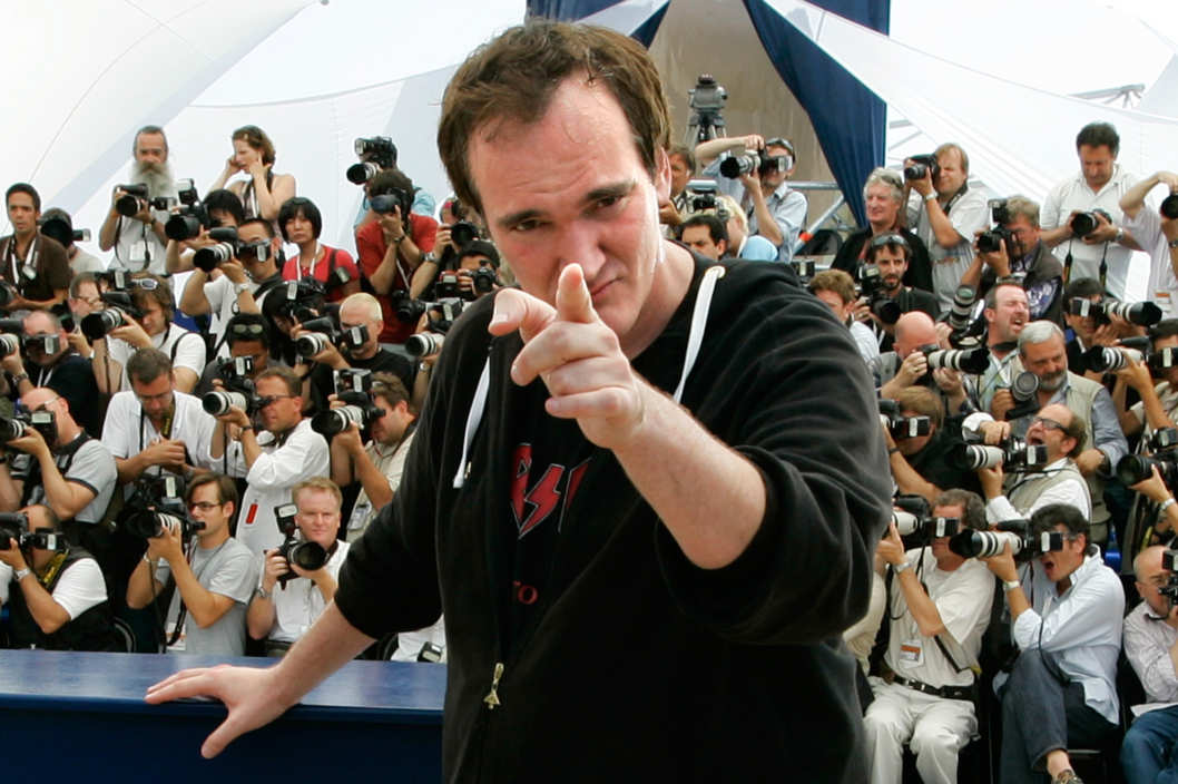 "22 May 2007, Cannes, France --- U.S. director Quentin Tarantino at the photo call of ""Death Proof"" during the 60th Cannes Film Festival.  --- Image by ? Eric Gaillard/Reuters/Corbis"