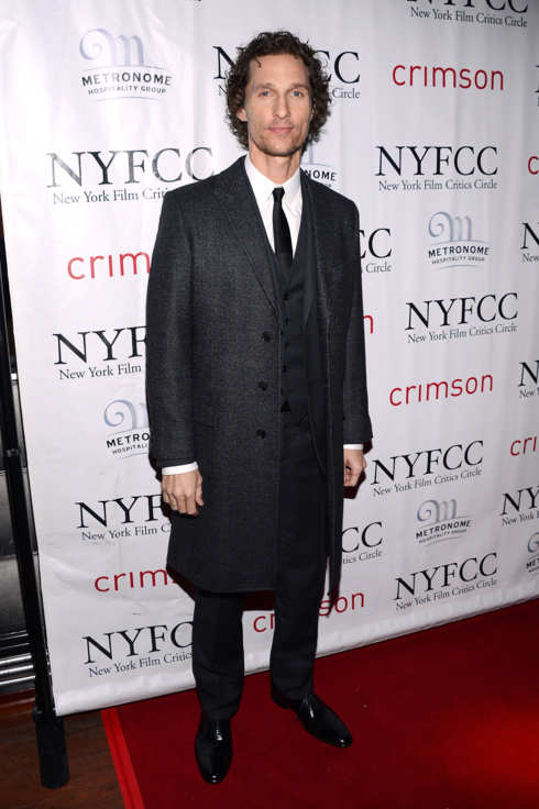 Actor Matthew McConaughey attends the 2012 New York Film Critics Circle Awards at Crimson on January 7, 2013 in New York City.