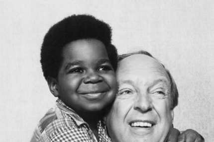 12 Nov 1978, Los Angeles, California, USA --- Original caption: Hollywood:  Conrad Bain, the bungling Dr. Arthur Harmon of the defunct Maude series, is now the principal star of a new series, Different Strokes, playing a multi-millionaire who adopts two black boys.  With him is one of the co-stars, Gary Coleman, 10.
