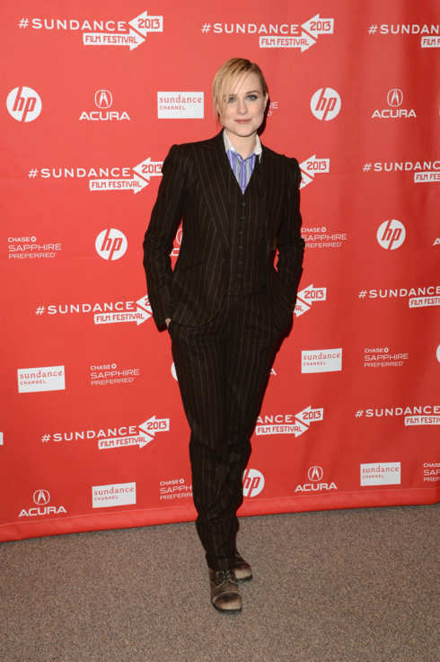 "Actress Evan Rachel Wood attends ""The Necessary Death Of Charlie Countryman"" premiere at Eccles Center Theatre during the 2013 Sundance Film Festival on January 21, 2013 in Park City, Utah."
