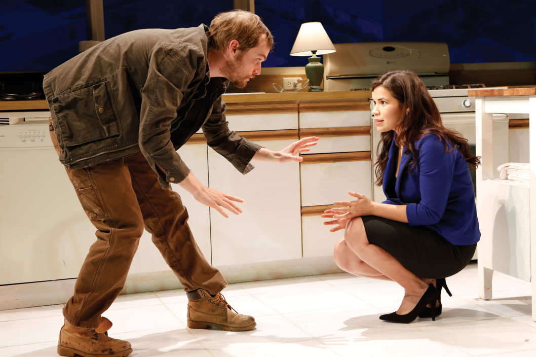 Women's Project Theater's Bethany by Laura Marks directed by Gaye Taylor Upchurch; l to r Tobias Segal and America Ferrera.