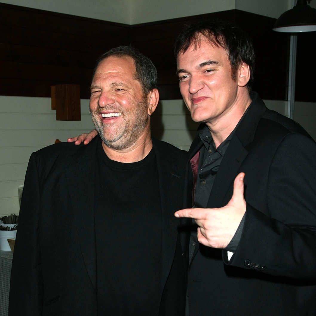 "Producer Harvey Weinstein and writer/director Quentin Tarantino attend the after party for The Cinema Society & Hugo Boss screening of ""Inglourious Basterds"" at The Standard Hotel on August 17, 2009 in New York City."