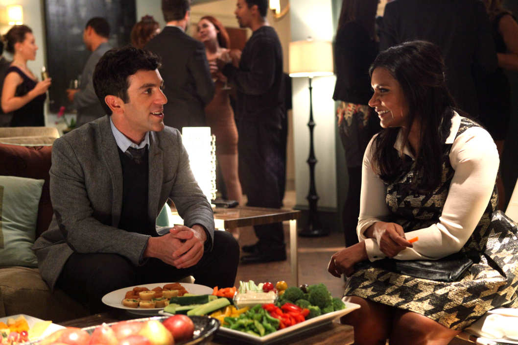 "THE MINDY PROJECT: Mindy (Mindy Kaling, R) meets Jaime (guest star B.J. Novak, L) at a party in the ""Harry & Sally"" episode of THE MINDY PROJECT airing Tuesday, Jan. 29 (9:30-10:00 PM ET/PT) on FOX."