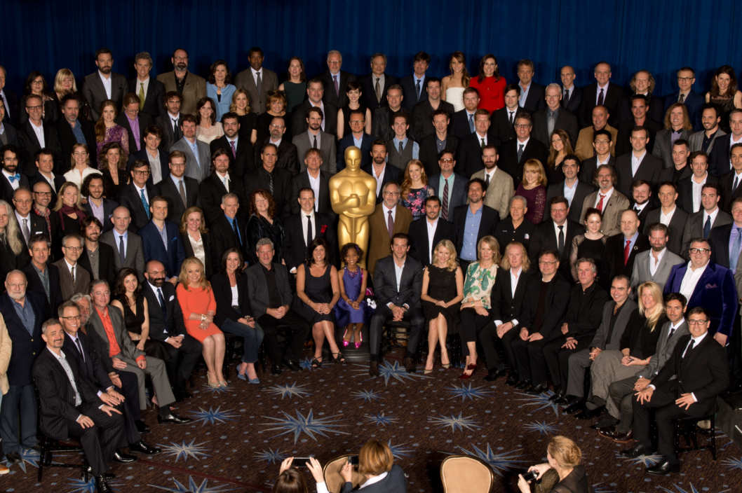 Nominees for the 85th Academy Awards? pose for a group photo at the Academy of Motion Picture Arts and Sciences' Oscar? Nominees Luncheon in Beverly Hills, California, Monday, February 4, 2013. The 85th Academy Awards will be presented on Sunday, February 24, 2013 at the Kodak Theatre at Hollywood & Highland Center?, and televised live by the ABC Television Network