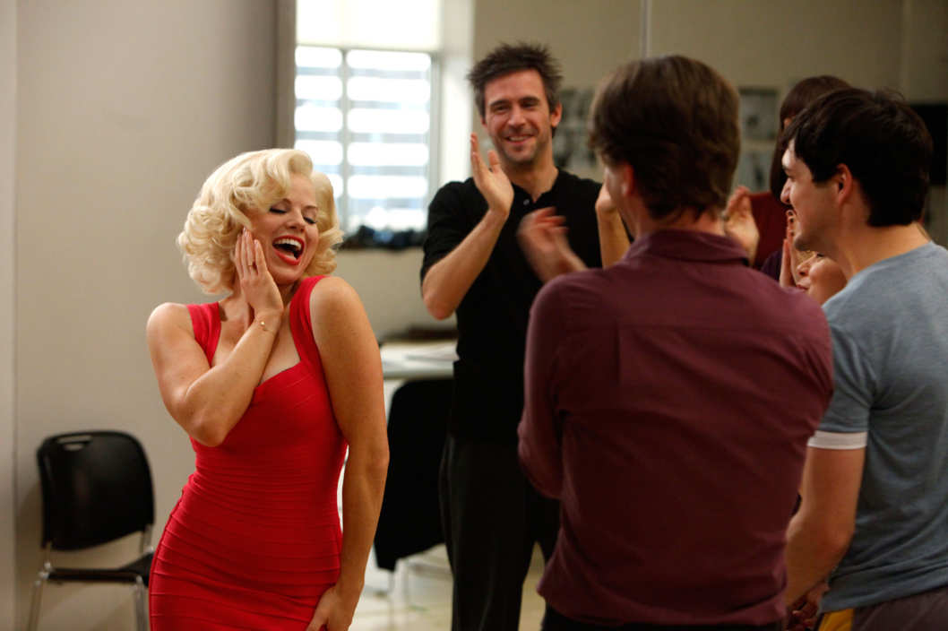 "SMASH -- ""Understudy"" Episode 110 -- Pictured: (l-r)  Megan Hilty as Ivy Lynn, Jack Davenport as Derek Wills"