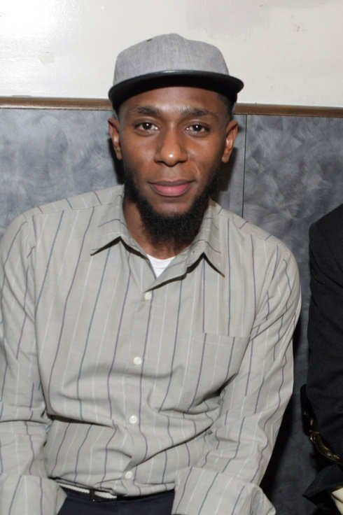 Recording Artist Yasiin Bey formely known as Mos Def backstage at the First Annual Indelible Festival produced by Jill Newman Productions held at Highline Ballroom on January 6, 2012 in New York City.